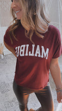 Load image into Gallery viewer, Malibu Burgundy Graphic Tee, Free Shipping!