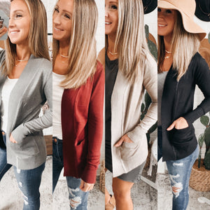 Classic Essential Cardigan - 4 Colors! Free Shipping!