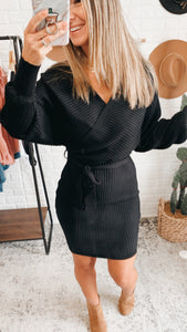We Owned The Night Sweater Dress Black, Free Shipping!