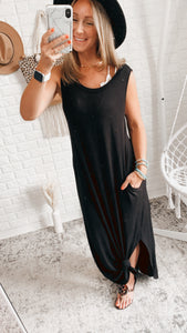 Across the Waters Sleeveless Maxi Dress