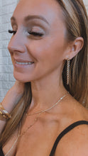 Load image into Gallery viewer, Dainty Drop and Dangle Gold Chain Earrings, Free Shipping!