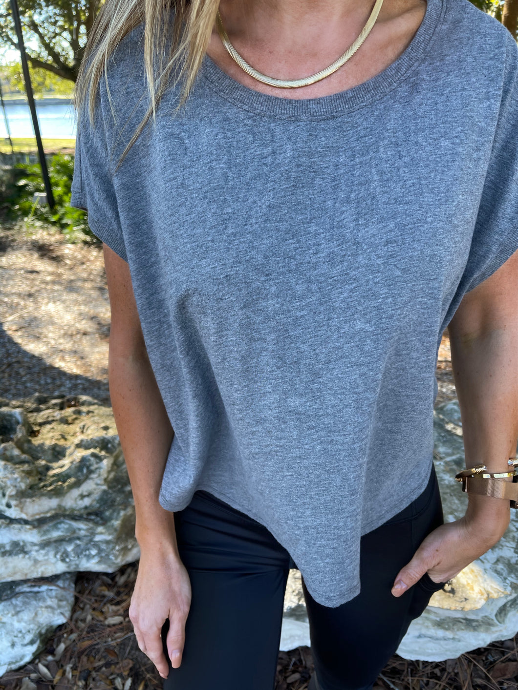 Mono B Time to Relax Washed Cropped Tee, Free Shipping!