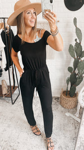 Black Asymmetrical Jumpsuit! Free Shipping!