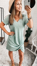 Load image into Gallery viewer, Hazel Shirt Dress with Front Twist Detail, Free Shipping!