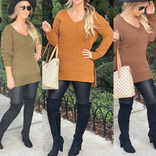 Load image into Gallery viewer, Lighting Deal -  Whitney Popcorn Cable Knit Sweater, Free Shipping!