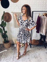 Load image into Gallery viewer, Chase The Idea Belt Detail Animal Print Dress, Free Shipping!