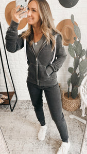 Just Loving You Heather Cropped Zip-up Jacket, free Shipping!
