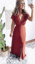 Load image into Gallery viewer, Harmony Coral Cut Out Maxi Dress, Free Shipping