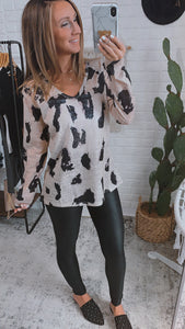 Let's Try Again Animal Print Blouse, Free Shipping!
