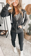 Load image into Gallery viewer, Just Loving You Heather Cropped Zip-up Jacket, free Shipping!