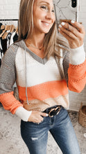 Load image into Gallery viewer, Gray Beach Bonfire Knitted Hoodie, Free Shipping!