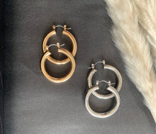 Load image into Gallery viewer, Get Down Tonight Gold or Silver Hoop Earrings, Free Shipping!