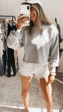 Load image into Gallery viewer, Just Loving You Heather Cropped Pullover, free Shipping!
