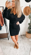 Load image into Gallery viewer, We Owned The Night Sweater Dress Black, Free Shipping!