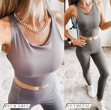 Load image into Gallery viewer, Mono B Racerback Crop Top Sports Bra, Free Shipping!