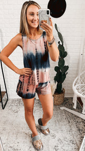 Let's Stay In Tie Dye Lounge Wear Set, Free Shipping!