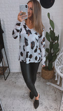 Load image into Gallery viewer, Let's Try Again Animal Print Blouse, Free Shipping!