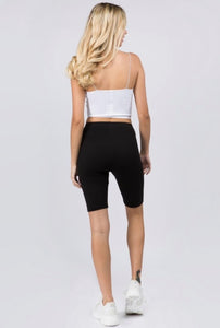 Break the Rules Black Biker Shorts, Free Shipping!