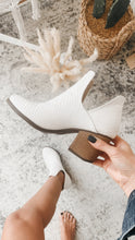 Load image into Gallery viewer, Luna White Booties Textured, Free Shipping!
