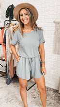 Load image into Gallery viewer, Extracurricular Blue Grey Romper, Free Shipping!