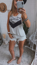 Load image into Gallery viewer, Kinsey Chevron Camo Striped Top, Free Shipping!
