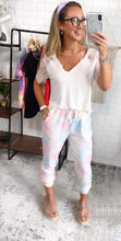 Load image into Gallery viewer, Sunny Tie Dye Washed Pink Jogger Skinnys