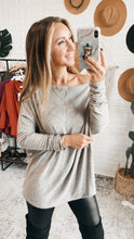 Load image into Gallery viewer, DOORBUSTER!!! Brushed Melange Off the shoulder Sweater