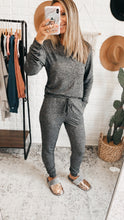 Load image into Gallery viewer, Hacci Bubbly Personality Heather Grey Lounge Wear Set, Free Shipping!