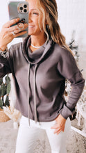 Load image into Gallery viewer, Weekend Retreat Charcoal Grey Pullover