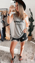 Load image into Gallery viewer, Natural State Happy Camper Grey Tank Top, Free Shipping!