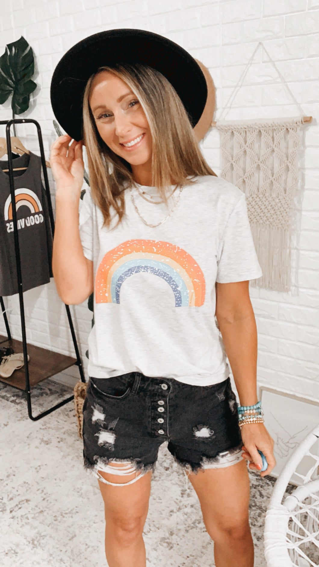 Naomi Vintage Over The Rainbow Tee, Free Shipping!