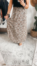Load image into Gallery viewer, Until Next Time Leopard Print Midi Skirt