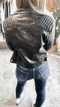 Load image into Gallery viewer, Watch Out Vegan Leather Moto Jacket, Free Shipping!