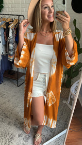 Sea the Sun Light Tie Dye Kimono, Free Shipping!