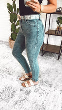 Load image into Gallery viewer, High Rise Acid Wash Skinny with Mini Side Slit, Free Shipping!