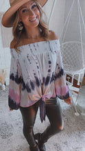 Load image into Gallery viewer, Vintage Smocked Off-The-Shoulder Tie-Dye Top, Free Shipping!