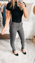 Load image into Gallery viewer, Office Casual Charcoal High-Waisted Leggings, Free Shipping!