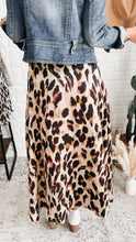 Load image into Gallery viewer, Next Time Satin Leopard Print Midi Skirt, Free Shipping!