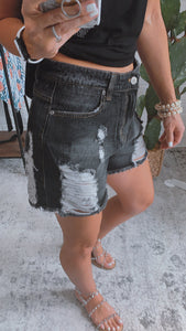 Leave Rad Black Distressed Shorts, Free Shipping!