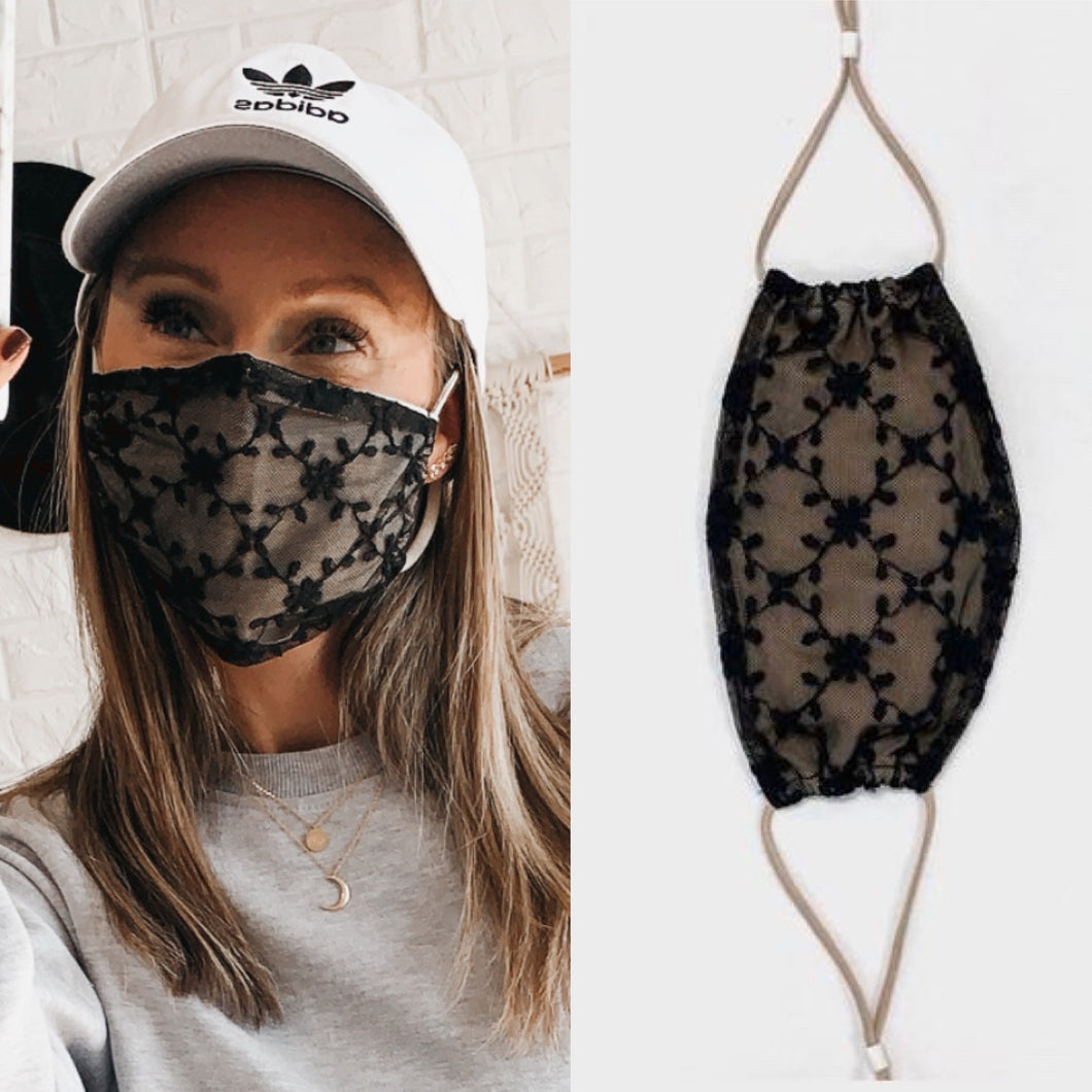 Lexy Lace Face Mask, Free Shipping!