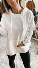 Load image into Gallery viewer, Mono B Boxy-Cut French Terry Hoodie Pullover, Free Shipping!