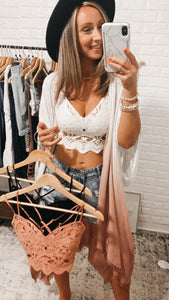 Ilektra Cotton Crochet Bralette, Free Shipping!