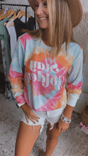Load image into Gallery viewer, Stay Golden Swirl Dye Pullover Long Sleeve, Free Shipping!