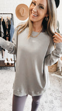 Load image into Gallery viewer, Mono B Waffle Ribbed Roundneck Pullover, Free Shipping!