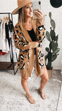 Load image into Gallery viewer, Playful Personality Beige/Black Animal Print Cardigan, Free Shipping!
