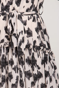 Chase The Idea Belt Detail Animal Print Dress