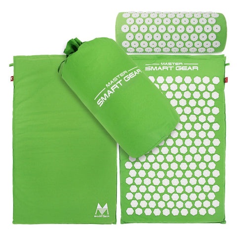 Lotus Acupressure Mat -  Massage Mat and Pillow Set for Natural Relief of Stress Pain and Tension