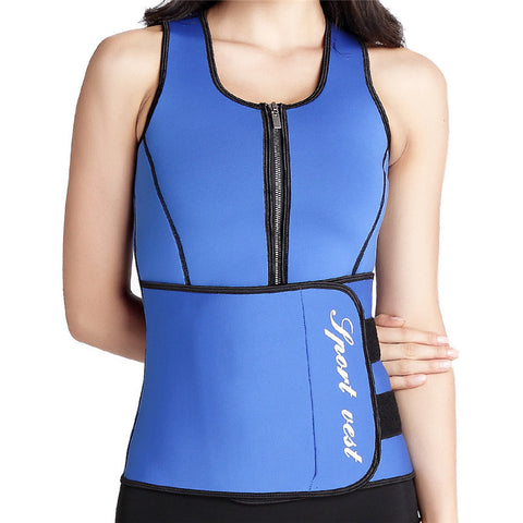 Sauna Vest - Suit Tank Vest with Adjustable Waist Trimmer Belt