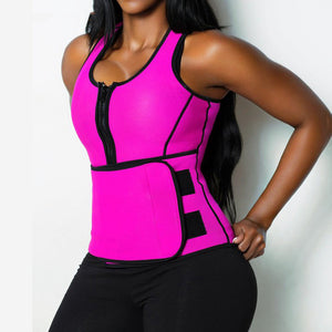 Waist Trainer Vest -  Sauna Slimming Vest,  Body Shaper,  Workout Slimming Adjustable Sweat Belt