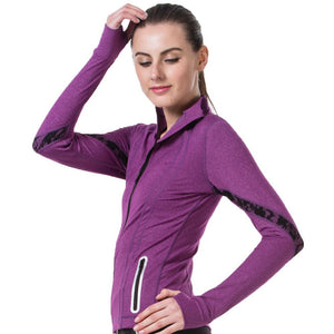 Fitness Jacket - Activewear for Yoga, Zumba or Gym. Slim Zipper and Side Pocket